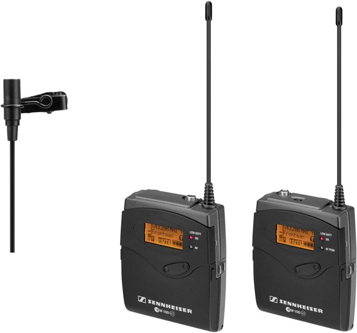 Wireless microphones for filmmaking