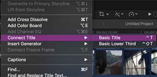 How to add text and titles in Final Cut Pro X